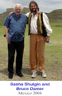 Sasha Shulgin and Bruce Damer - Mexico 2004