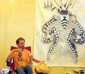 Erik Davis leading a Playalogue at the 2007 Burning Man Festival