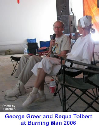 George Greer and Requa Tolbert at Burning Man 2006