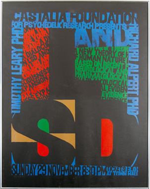 The first psychedelic art poster -- advertising Tim Leary's Cooper Union speech