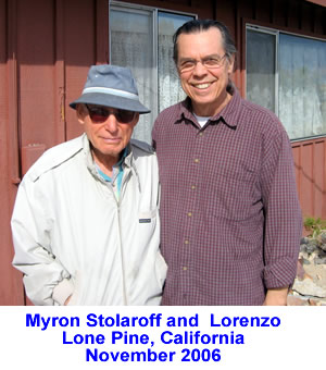 Myron Stolaroff and Lorenzo in Lone Pine, California - Novermber 2006