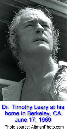 Dr. Timothy Leary at his home in Berkeley, CA - June 17, 1968