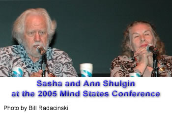 Sasha and Ann Shulgin at the 2005 Mind States Conference