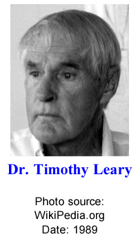 Dr. Timothy Leary -- Photo source: Wikipedia.org -- Date: 1989