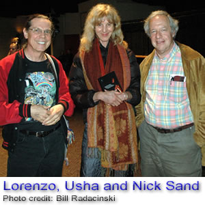Lorenzo, Usha and Nick Sand