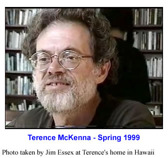 Terence McKenna at home in Hawaii, Spring 1999